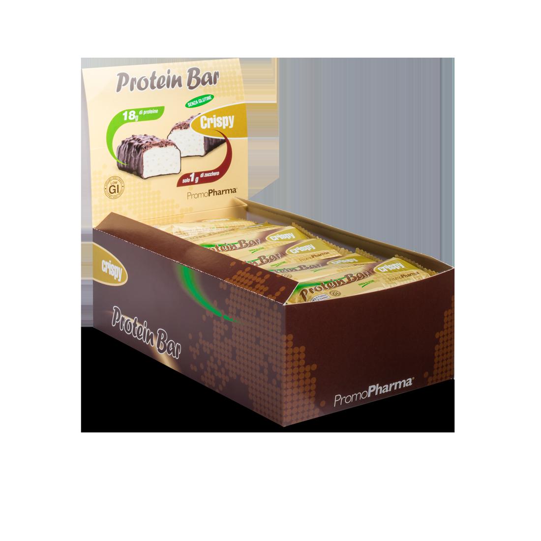 Protein Bar Crispy box 24 pz